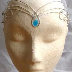 Sea glass circlet